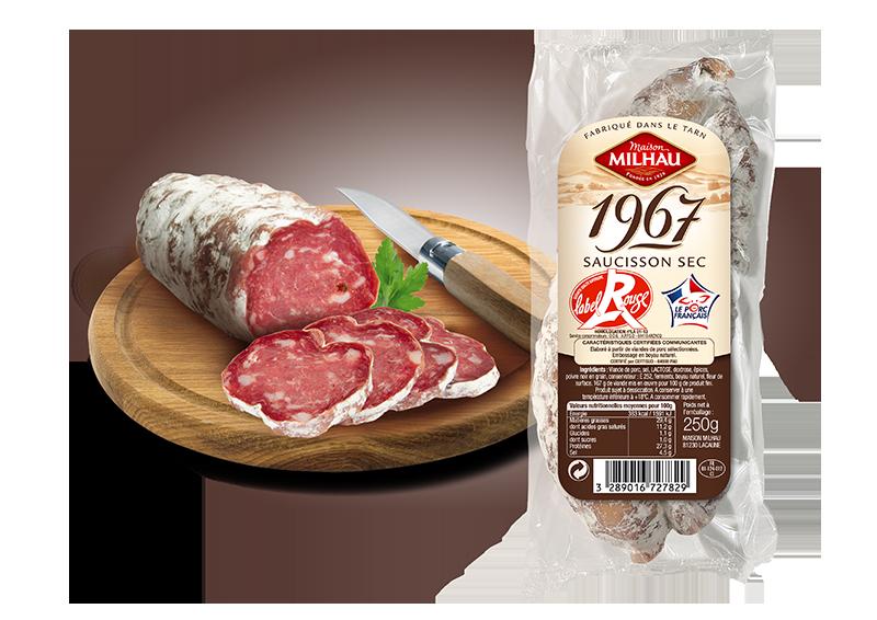 Saucisson Label Rouge Maison Milhau