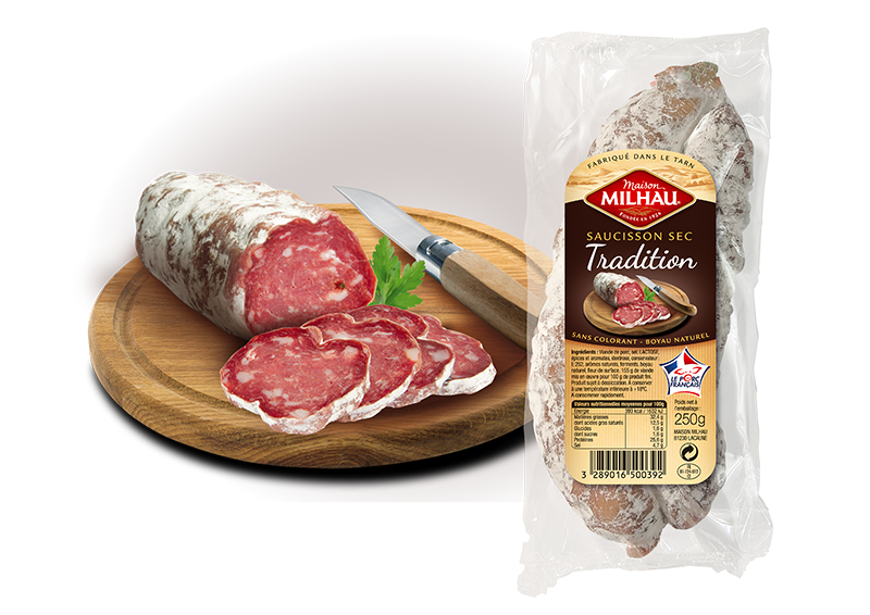 Saucisson sec tradition Maison Milhau