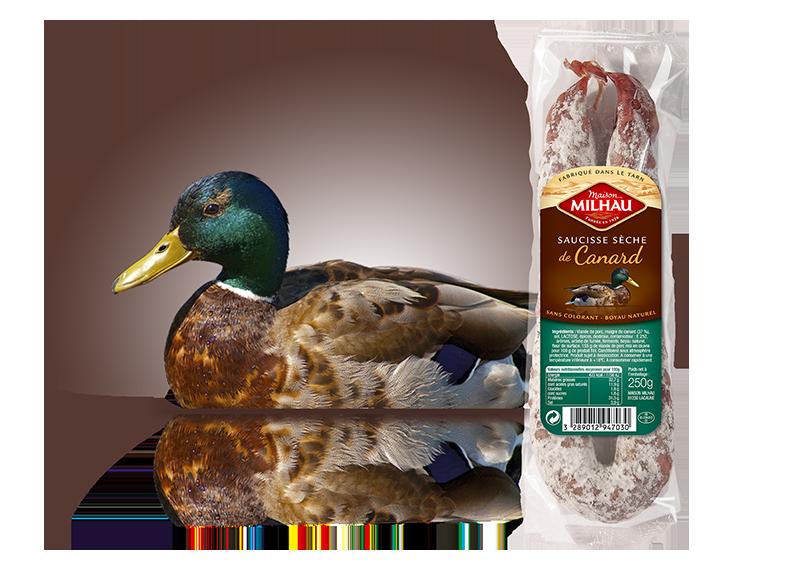 Saucisse sèche de canard Maison milhau