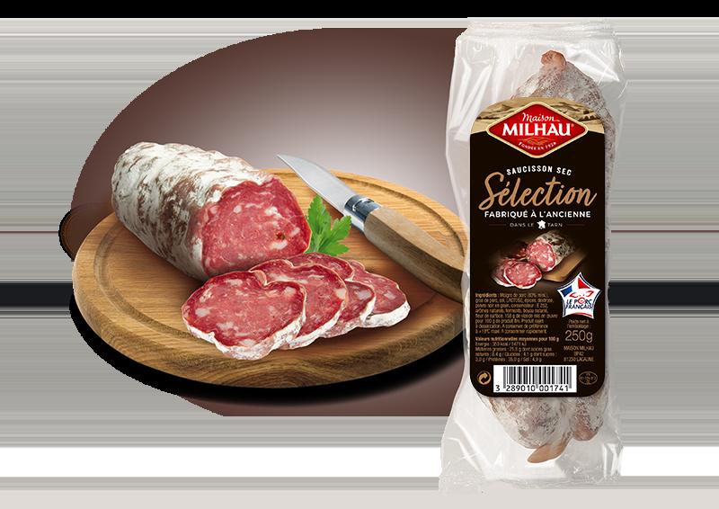 Saucisson sec Sélection Maison milhau saucisson maigre