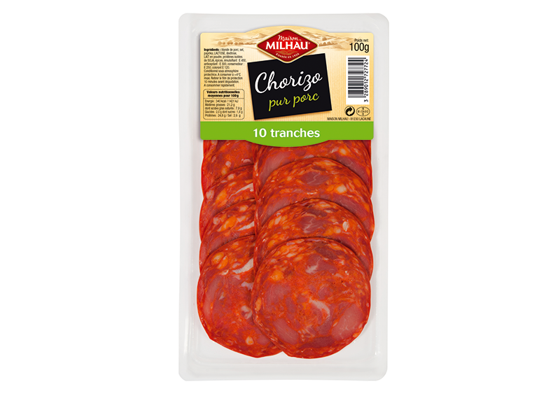 Chorizo tranché Maison milhau