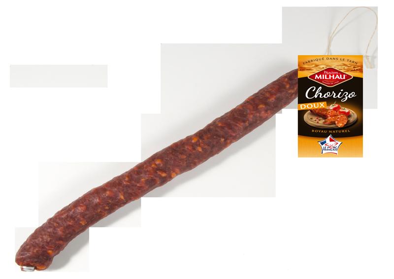 Chorizo doux droit Maison milhau