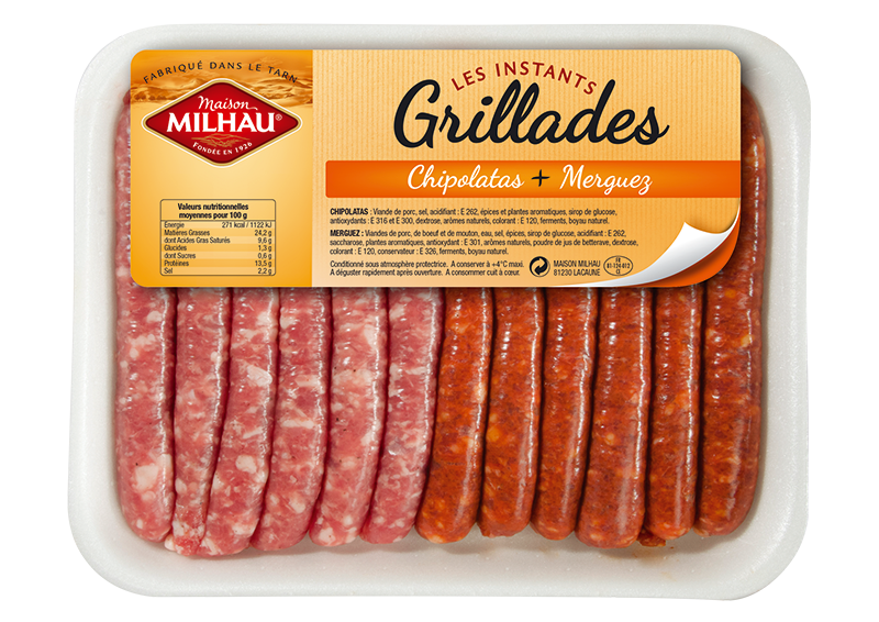Assortiment chipolatas et merguez Maison milhau