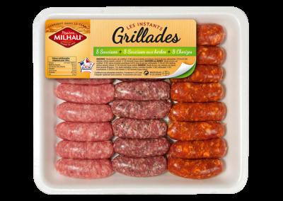 Trio Minis Saucisses Chorizos Saucisses aux Herbes