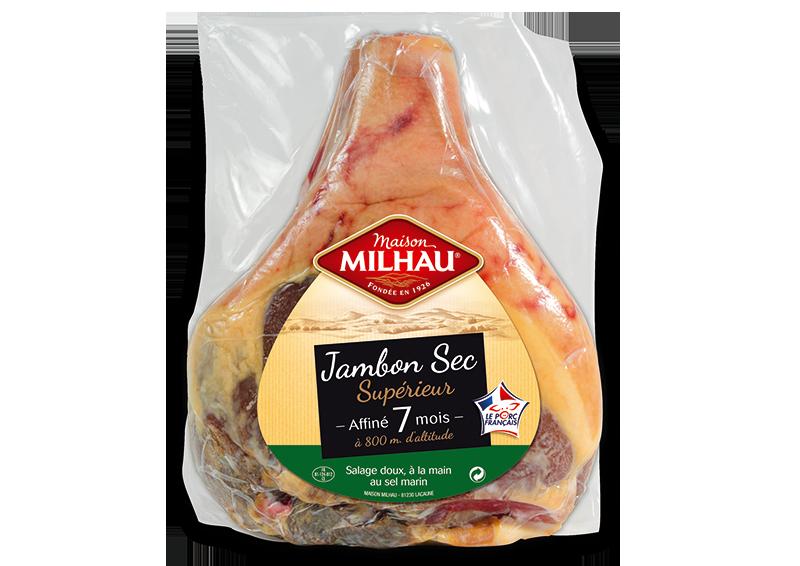 Jambon sec supérieur 7 mois Maison milhau