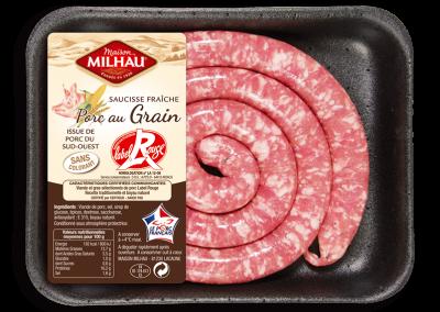 Saucisse fraîche Porc au grain Label Rouge