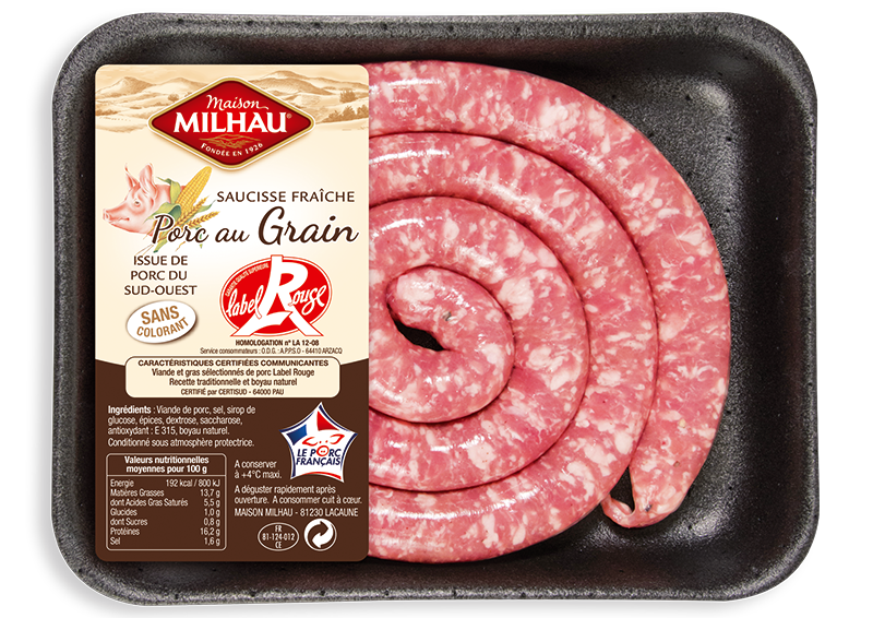 Saucisse fraiche Label Rouge