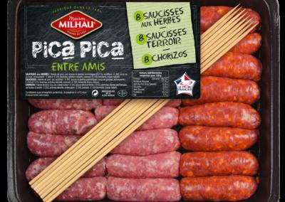 Pica Pica : Minis Saucisses aux Herbes, Nature et Chorizos